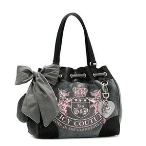 JUICYCOUTURE ジューシークチュール ショルダーバッグ REPLENISHMENT HANDBA YHRU1477 HEATHER PRESTIGE/BLACK GY|rcmdfa