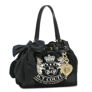 JUICYCOUTURE ジューシークチュール ショルダーバッグ CARRY OVER CANVAS TO YHRU1477 DAY DREAMER BLACK/BLACK BK|rcmdfa