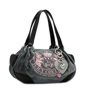 JUICYCOUTURE ジューシークチュール ショルダーバッグ REPLENISHMENT HANDBA YHRU1599 BABY FLUFFY HEATHER PRESTIGE/BLACK GY|rcmdfa