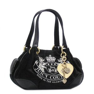 JUICYCOUTURE ジューシークチュール ショルダーバッグ CARRY OVER CANVAS TO YHRU1599 BABY FLUFFY BLACK/BLACK BK|rcmdfa