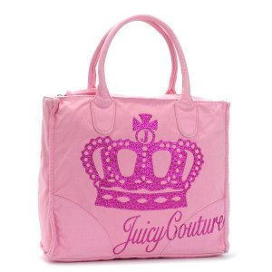 JUICYCOUTURE ジューシークチュール トートバッグ CARRY OVER CANVAS TO YHRU1709 QUEEN OF CUTURE NARDELS PK|rcmdfa