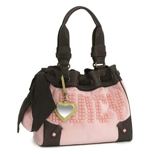 JUICYCOUTURE ジューシークチュール ショルダーバッグ CARRY OVER CANVAS TO YHRU1876 JUICY STUDS DAYDREAMER NARDELS PK|rcmdfa