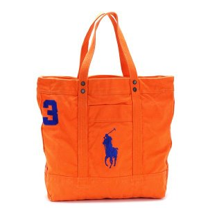 ラルフローレン RALPH LAUREN トートバッグ 405532853 BIG PP TOTE BIKE ORANGE OR|rcmdfa