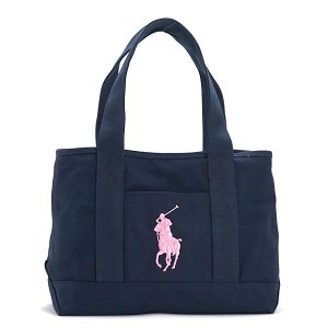 ラルフローレン RALPH LAUREN トートバッグ 950188 SCHOOL TOTE MD NAVY / BLUSH PINK PP NV|rcmdfa