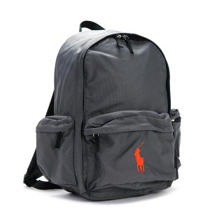 ラルフローレン RALPH LAUREN バックパック 950099 BIG PONY BACKPACK LG CHARCOAL POLYESTER GY|rcmdfa