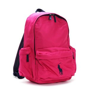 ラルフローレン RALPH LAUREN バックパック 950100 BIG PONY BACKPACK LG FUCHSIA POLYESTER PK|rcmdfa