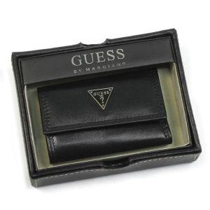 ゲス GUESS キーケース CRUZ 6 HOOK KEYCASE BLACK BK|rcmdfa