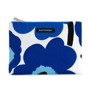 マリメッコ marimekko ポーチ バッグ 25379 KEIJU WHITE/BLUE BL|rcmdfa