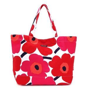 マリメッコ marimekko トートバッグ 38151 PIENI UNIKKO BAGS WHITE/RED RED|rcmdfa