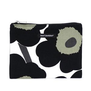 マリメッコ marimekko ポーチ バッグ 42629 KEIJU WHITE/BLACK BK|rcmdfa