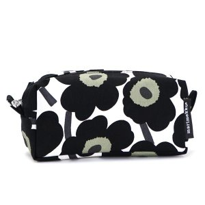 マリメッコ marimekko ポーチ バッグ 42446 TAIMI MINI UNIKKO WHITE/BLACK BK|rcmdfa
