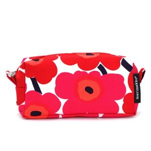 マリメッコ marimekko ポーチ バッグ 42446 TAIMI MINI UNIKKO WHITE/RED RED|rcmdfa