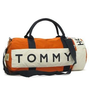 トミー・ヒルフィガー tommy hilfiger ボストンバッグ 390532 l500039 small duffle harbour point orange/bone|rcmdfa