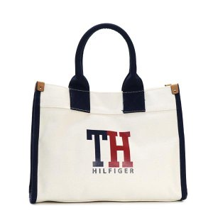 トミーヒルフィガー TOMMY HILFIGER トートバッグ 6929741 MEDIUM TOTE TH HILFIGER GRAPHIC NATURAL/NAVY/RED RED rcmdfa