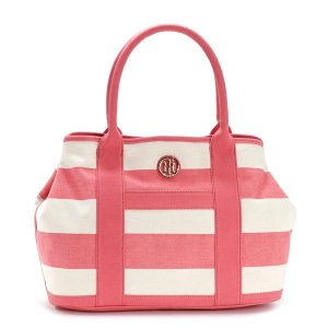 トミーヒルフィガー TOMMY HILFIGER トートバッグ 6932079 SHOPPER CALYPSO CORAL/NATURAL D.PK|rcmdfa