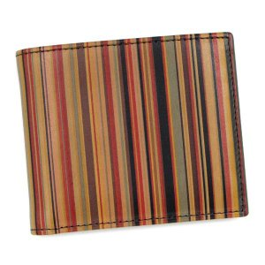 ポールスミス paul smith 二つ折り財布 小銭入 ajxa1033 men wallet bf coin stripe 1-vintage|rcmdfa