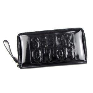 シーバイクロエ see by chloe 長財布 長札 zip file pvc 9p7155 long zipped wallet black bk|rcmdfa
