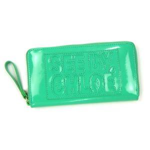 シーバイクロエ see by chloe 長財布 長札 zip file pvc 9p7155 long zipped wallet mint gr|rcmdfa