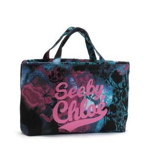 シーバイクロエ see by chloe トートバッグ see by candy 9s7162 mini shopping bag black cotton candy bk|rcmdfa