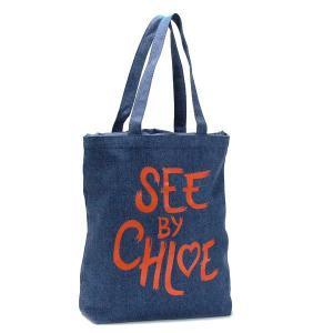 シーバイクロエ see by chloe トートバッグ see by heart 9s7116 tote shopping bag denim nv|rcmdfa