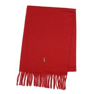 ラルフローレン RALPH LAUREN マフラー 6F0341 SIGNTRE ITALIAN VIGNWOOL SCRF BRISOTL RED RED|rcmdfa