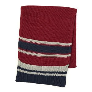 トミーヒルフィガー tommy hilfiger マフラー 1957860048 joey striped scarf rhubarb red|rcmdfa