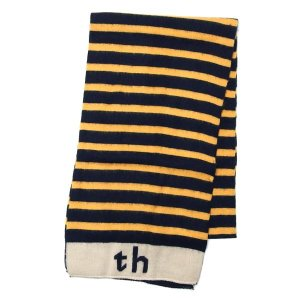 トミーヒルフィガー TOMMY HILFIGER マフラー H8C4-1401 TH SOFT STRIPE BRASS BE/GO|rcmdfa