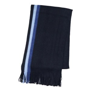 トミーヒルフィガー TOMMY HILFIGER マフラー H8CB3401 TEXTURED BORDER STRIPE NAVY NV|rcmdfa