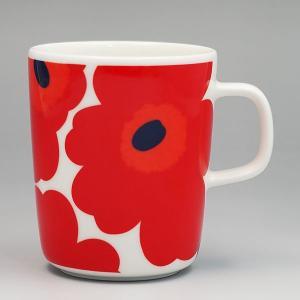 マリメッコ marimekko マグカップ 63431 MUG 2.5DL WHITE/RED RED|rcmdfa