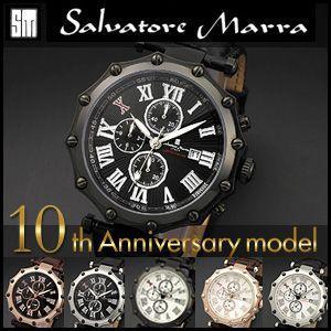 Salvatore Marra サルバトーレマーラ 10周年記念モデル GD-SM1010 メンズクォーツ日本製ムーブメント 腕時計 メンズ|rcmdfa