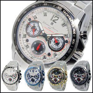 サルバトーレ マーラ SALVATORE MARRA クオーツ メンズ 腕時計 時計 GD-SM3000 カレンダー ステンレス 3気圧防水|rcmdfa