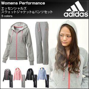 adidas アディダス レディース エッセンシャルズ ess スウェット上下セット|rcmdfa