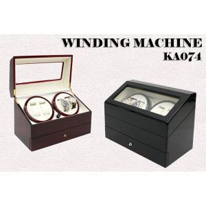 ワインダー/ワインディングマシーン 4本巻き  KA074 ブラック