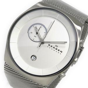 スカーゲン SKAGEN クロノ クオーツ メンズ 腕時計 SKW6071 ホワイト|rcmdfa