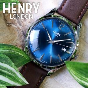 ヘンリーロンドン HENRY LONDON ナイツブリッジ 39mm ユニセックス 腕時計 HL39-S-0103 ブルー/ブラウン|rcmdfa
