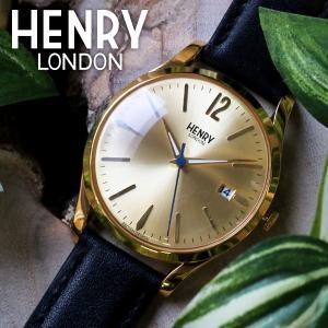 ヘンリーロンドン HENRY LONDON ウェストミンスター 39mm ユニセックス 腕時計 HL39-S-0006 ゴールド/ブラック|rcmdfa