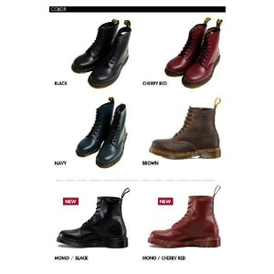 ドクターマーチン Dr.Martens 8ホール ブーツ 1460 8 EYE BOOT BLACK CHERRY RED NAVY|rcmdfa|03
