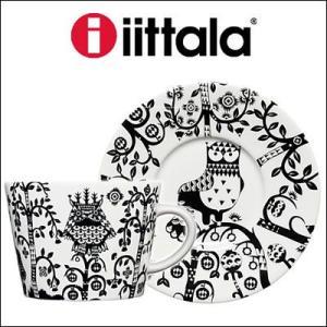 iittala イッタラ Taika カップ&ソーサー ブラック 0.2L/15cm rcmdfa