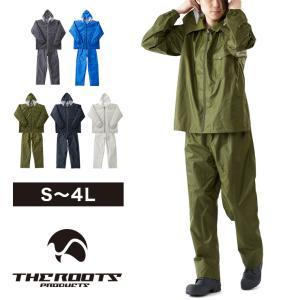 THE ROOTS レインスーツ 上下セット レディース メンズ レインウェア レインコート カッパ 防水 撥水 梅雨 フェスの商品画像 ナビ