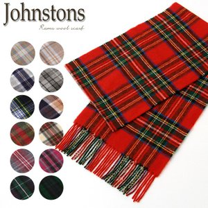 JOHNSTONS ジョンストンズ マフラー チェックタイプ タータン柄 ラムズウール100% 20 秋冬 新作 ギフト プレゼント|rcmdfa