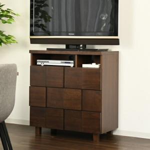 ミドルチェスト テレビ台 テレボード 幅80cm 収納 桐 TVボード テレビボード おしゃれ 代引不可|rcmdhl