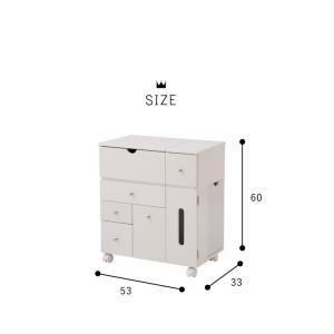 ドレッサー コスメボックス ドレッサー 鏡台 ミラー 収納 シンプル 北欧 木製 コスメワゴン メイクボックス 代引不可|rcmdhl|02