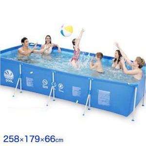 ビッグ 角型 フレームプール ファミリープール 巨大プール 家庭用 ビニールプール 水遊び ビッグサイズプール プール 代引不可|rcmdhl