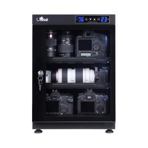 防湿庫 全自動 湿度管理 湿気対策 カメラ レンズ 保管 カギ付 LED庫内灯付 スライド式棚 高さ調節可能棚 強化ガラス 容量68L 代引不可|rcmdhl