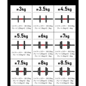 バーベルにもなるダンベル 15kg×2個SET バーベル ダンベル 可変式 鉄アレイ 筋トレ ウェイト トレーニング 筋トレグッズ 代引不可|rcmdhl|08