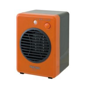 ミニセラミックファンヒーター 300W オレンジ TS-320 TEKNOS テクノス 暖房 ヒータ...