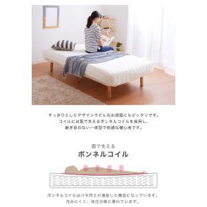 脚付きロールマットレス ボンネル シングル 脚付きマットレス ベッド 一体型 マットレス シングルベッド 脚付マット 脚付き 脚付|rcmdhl|03