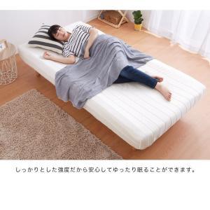 脚付きロールマットレス ボンネル シングル 脚付きマットレス ベッド 一体型 マットレス シングルベッド 脚付マット 脚付き 脚付|rcmdhl|06