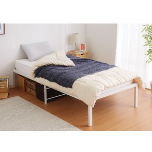 パイプベッド ベッドフレーム シングル ベッドフレーム単品 ベッド ブラック スチール パイプ 1人暮らし ワンルーム|rcmdhl|06
