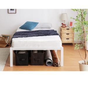 パイプベッド ベッドフレーム シングル ベッドフレーム単品 ベッド ブラック スチール パイプ 1人暮らし ワンルーム|rcmdhl|07